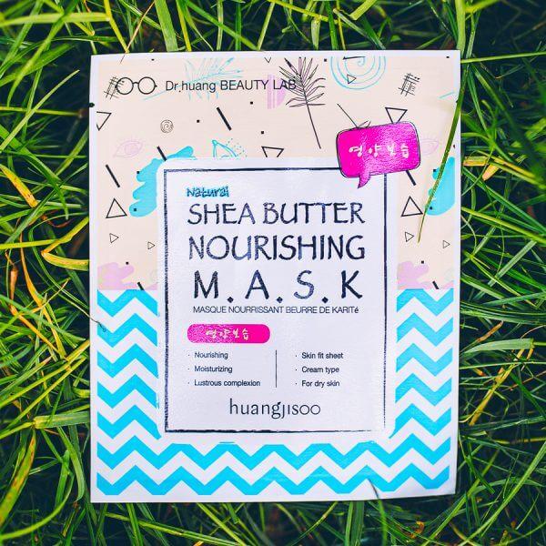 huangjisoo shea butter tápláló fátyolmaszk minji cosmetics koreai kozmetikumok