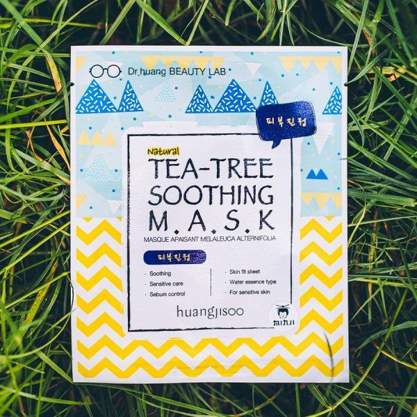 huangjisoo Tea-Tree Nyugtató fátyolmaszk