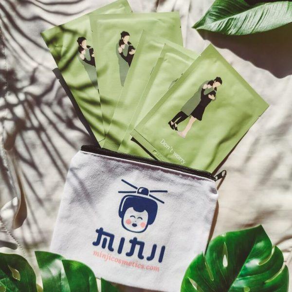 pack-age korea don't worry fátyolmaszk 5 db ajándék neszeszer minjicosmetics.com